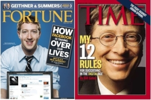 Mark Zuckerberg and Bill Gates